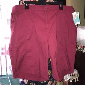 NWT Plus Size 20W Lee Relaxed Fit Bermuda Shorts